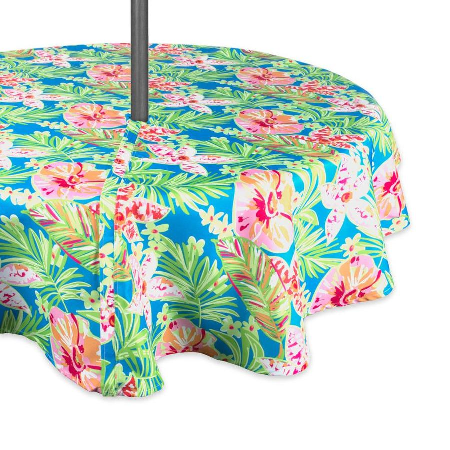 dii outdoor tablecloth summer floral table cover for 60 in round