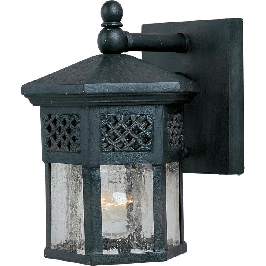 maxim lighting scottsdale 8 5 in h country forge medium base e 26 outdoor wall light