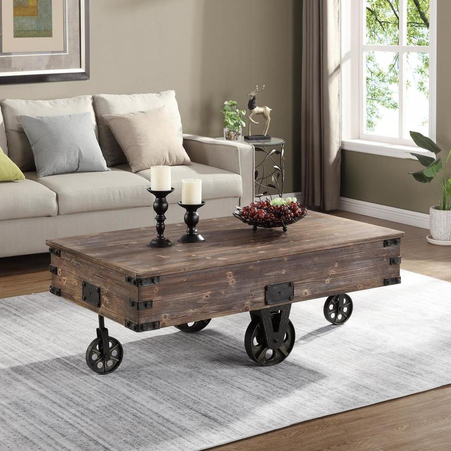 co rustic white wood coffee table