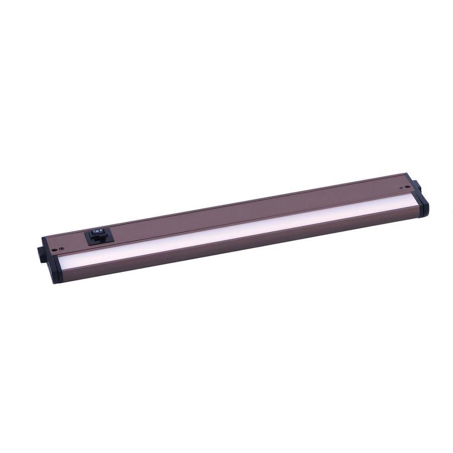 maxim lighting countermax 18 in hardwired light bar under cabinet lights
