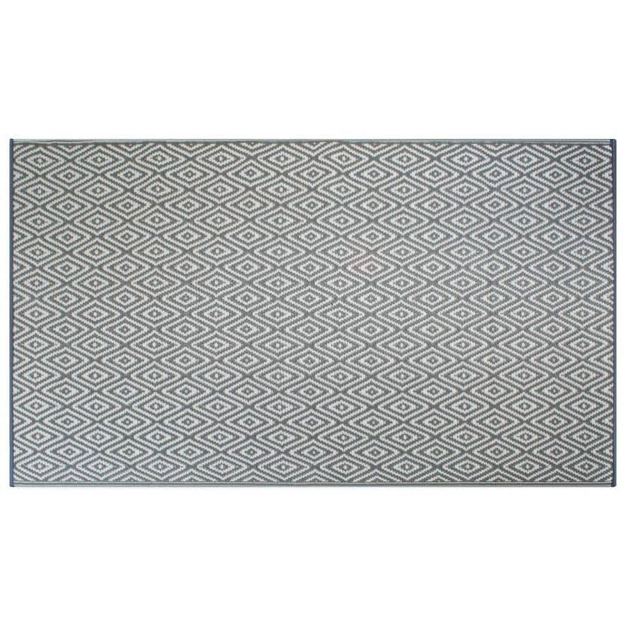 dii 4 x 6 diamond gray indoor outdoor geometric area rug