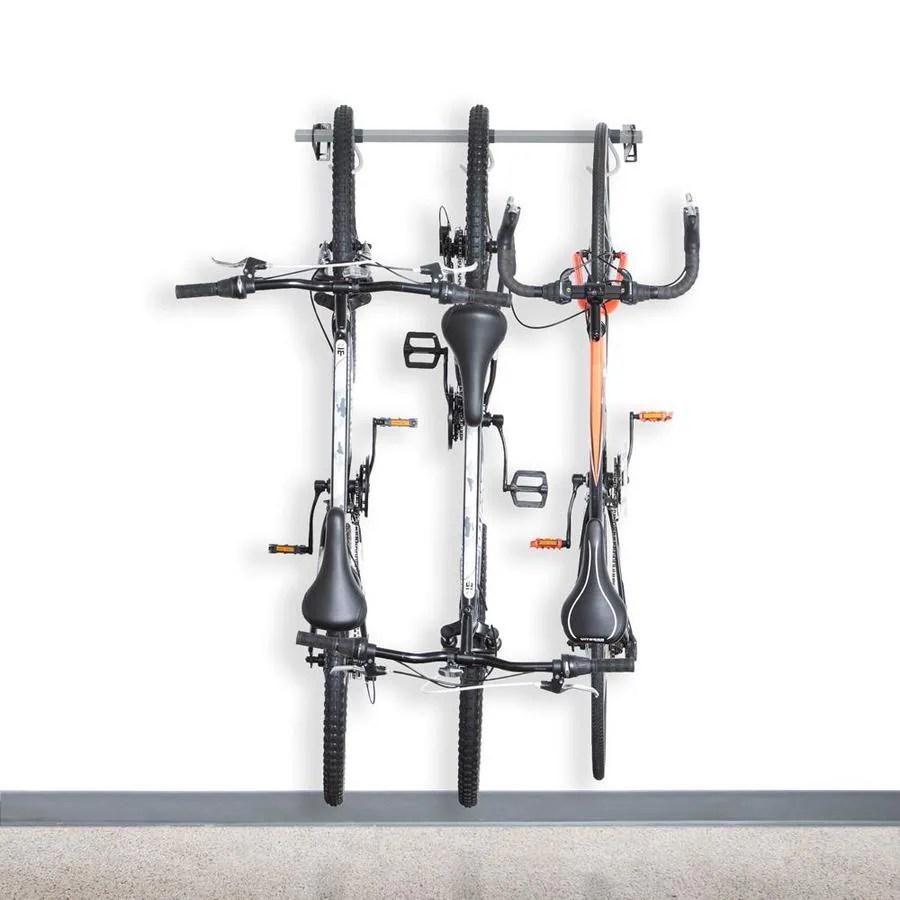 monkey bars 3 bike rack 38 in x 5 in x 5 in in gray