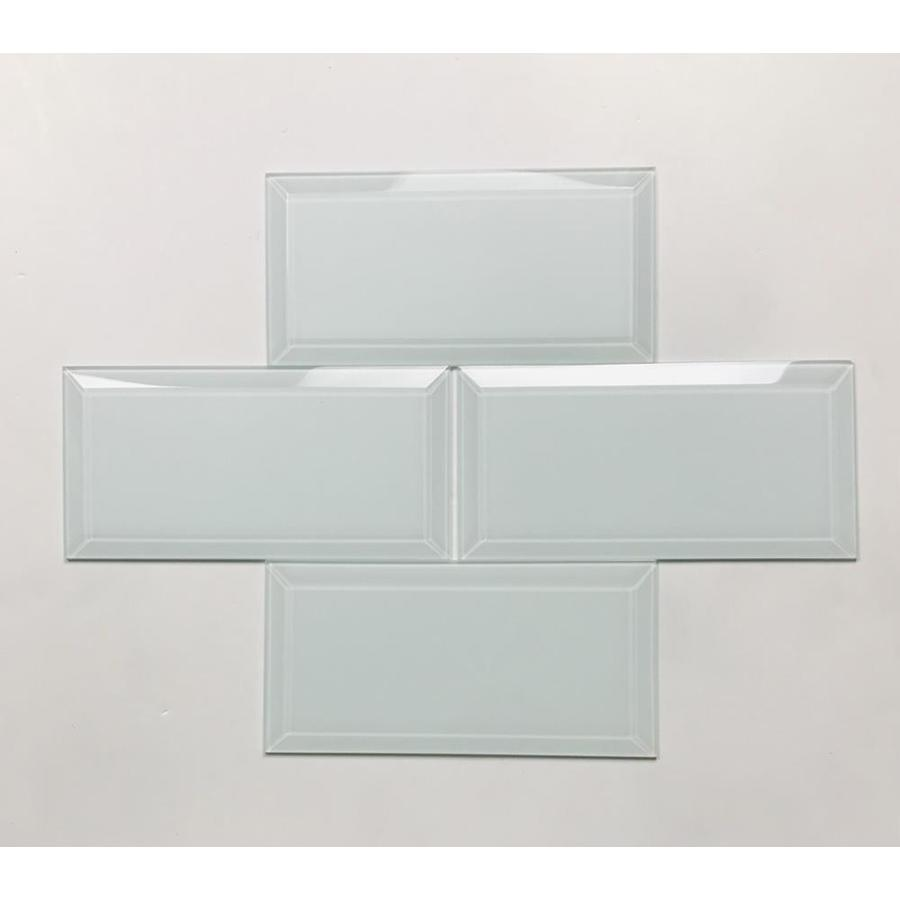 abolos frosted elegance 112 pack mint blue matte 3 in x 6 in matte glass subway wall tile