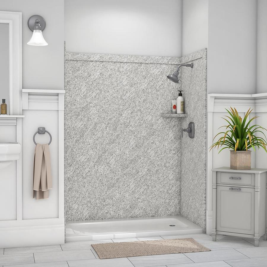 flexstone royale arctic haze panel kit shower wall surround 60 in x 36 in