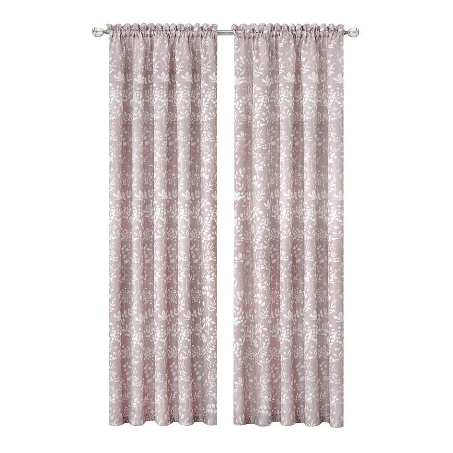 achim 84 in blush polyester light filtering rod pocket single curtain panel