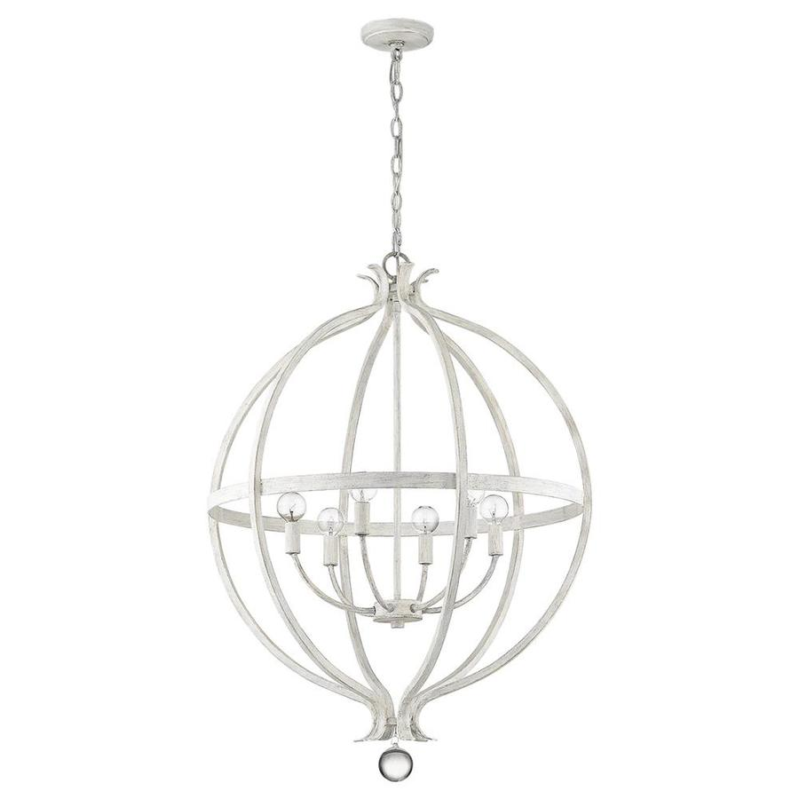 acclaim lighting callie country white french country cottage globe pendant light