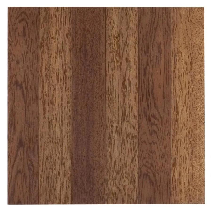 achim sterling medium oak plank 12 in x 12 in water resistant peel and stick vinyl tile 45 sq ft lowes com