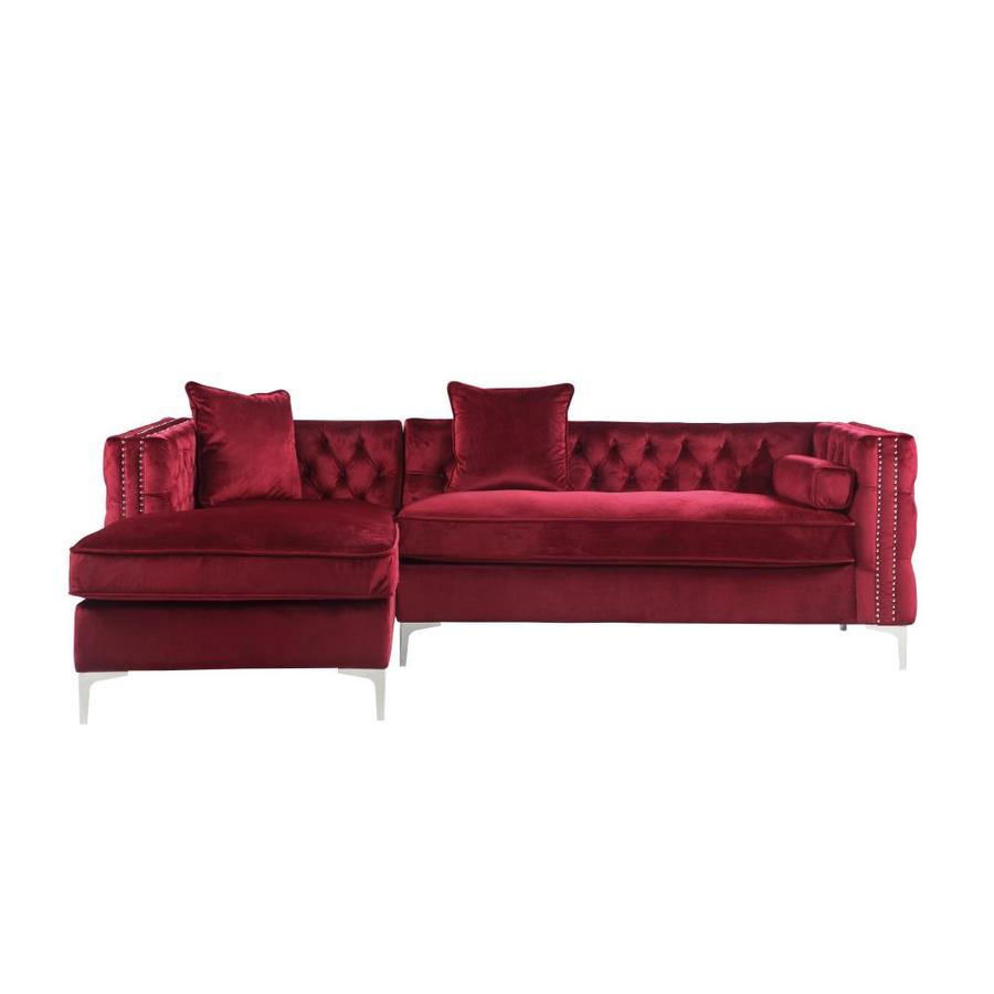 red couches sofas loveseats at lowes com