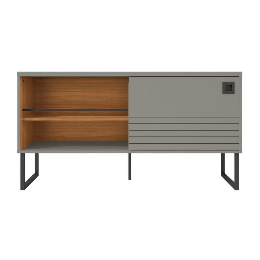 Manhattan Comfort Loft Grey And Wood Tv Stand In The Tv Stands Department At Lowes Com