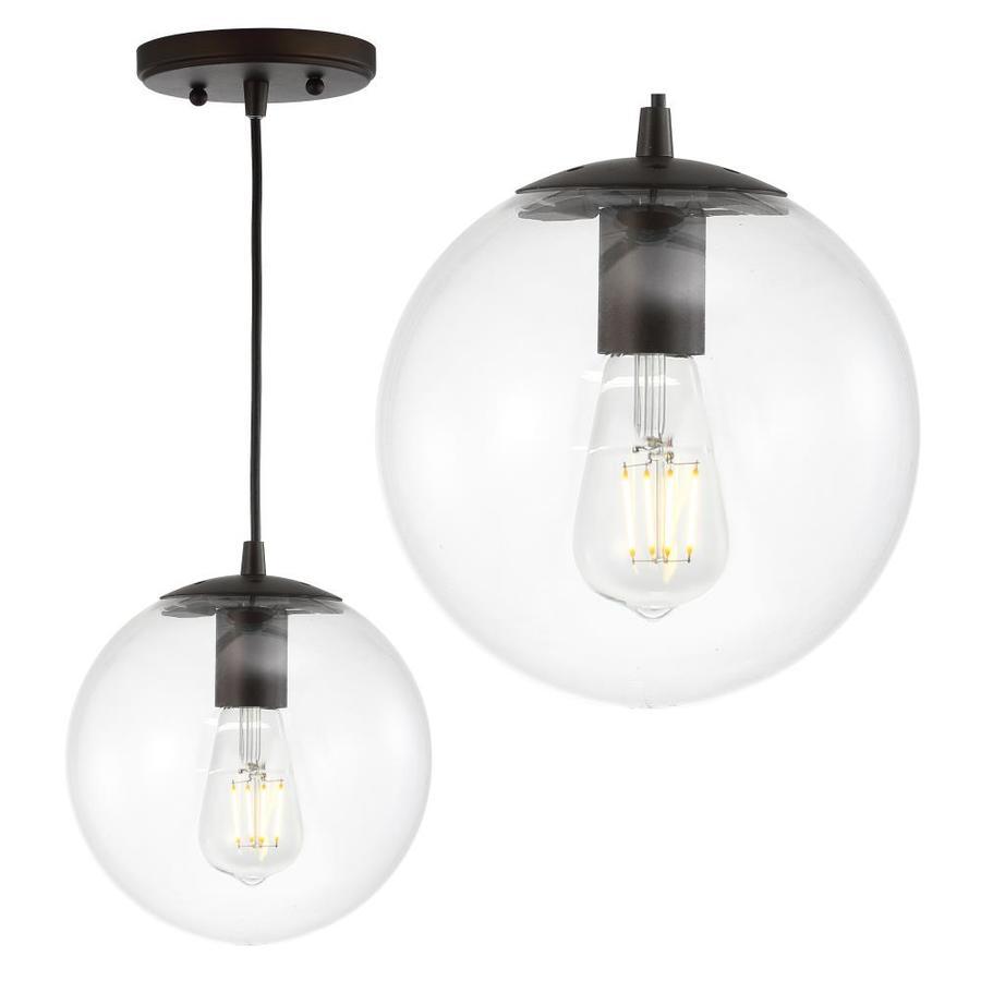 jonathan y clear oil rubbed bronze modern contemporary globe led mini kitchen island light