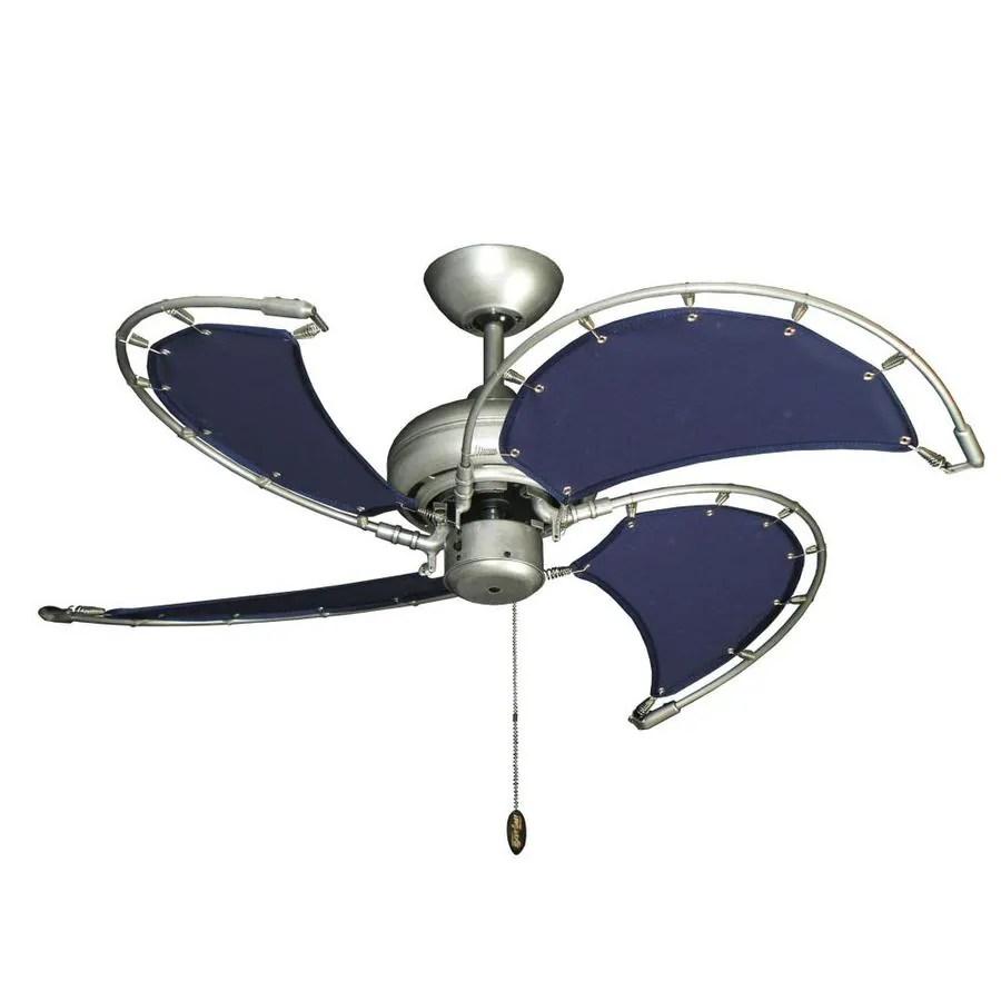 troposair voyage 40 in brushed nickel bn 1 indoor outdoor ceiling fan 4 blade