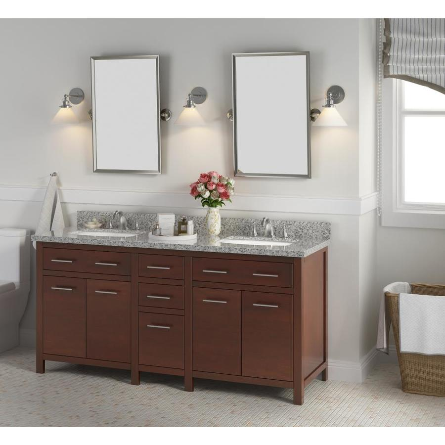 bianco 72 in brown undermount double