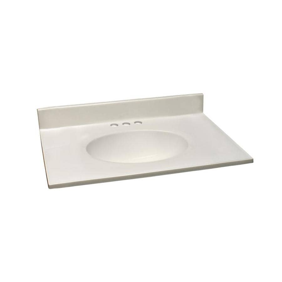 design house 31 in white on white cultured marble single sink bathroom vanity top
