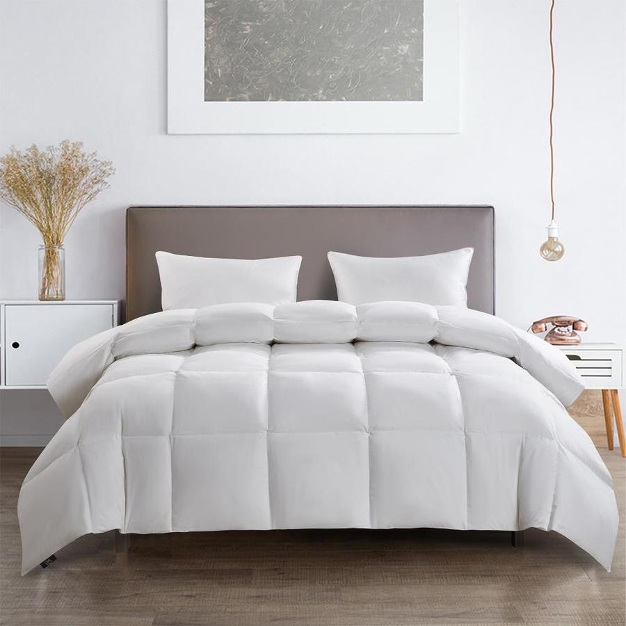 serta stdc34 white solid king comforter cotton with down fill