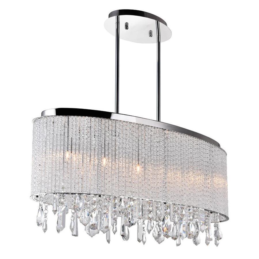 cwi lighting benson 5 light chrome traditional crystal chandelier