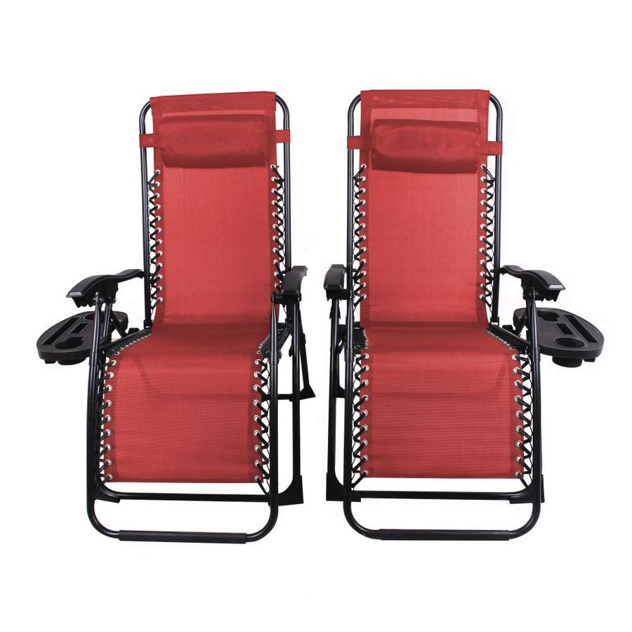 patio premier red folding camping chair