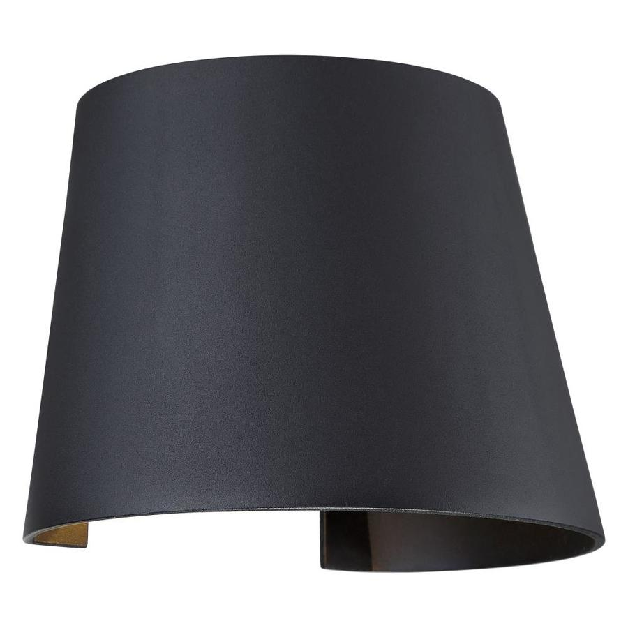 access lighting cone 7 5 in w 1 light black transitional wall sconce