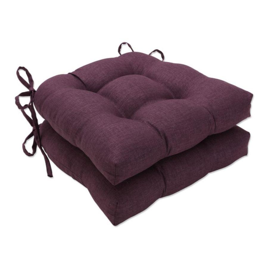 pillow perfect rave vineyard 2 piece red patio chair cushion