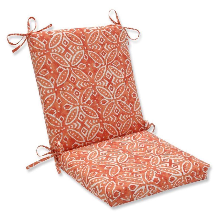 pillow perfect merida pimento orange patio chair cushion