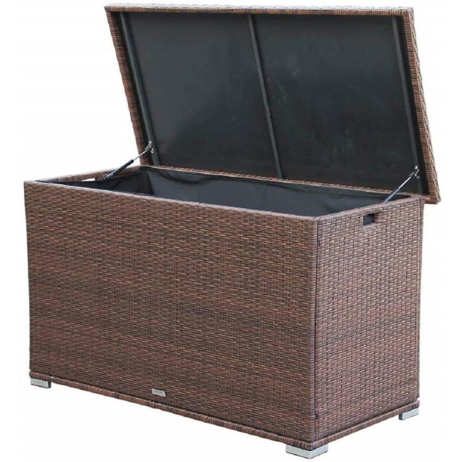 direct wicker anita 67 in l x 67 in 264 gallon brown plastic deck box