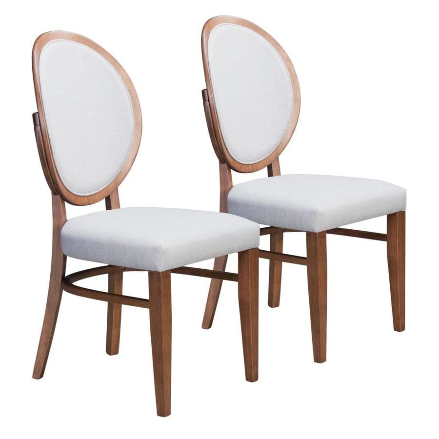 zuo modern set of 2 regents contemporary modern polyester polyester blend upholstered dining side chair wood frame in the dining chairs department at lowes com