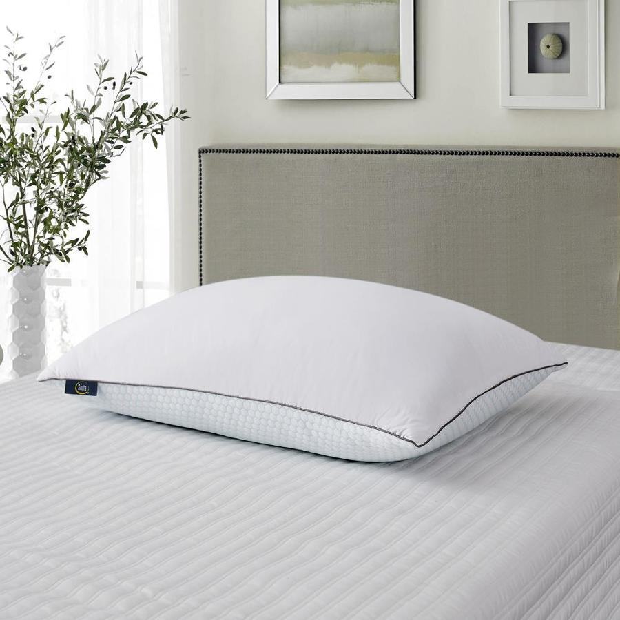 serta serta cooling white goose feather bed pillow 2 pack king medium down bed pillow