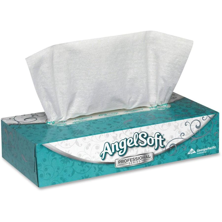 Angel Soft Angel Soft ps Facial Tissue- 2 Ply- 7.65in x 8.85in- White- Fiber- Soft- for Face- 100 Quantity Per Box- 30/Carton