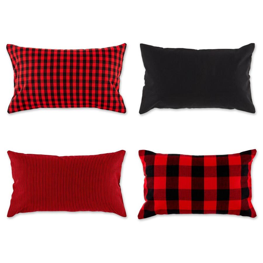 dii 4 pack red and black standard cotton pillow case