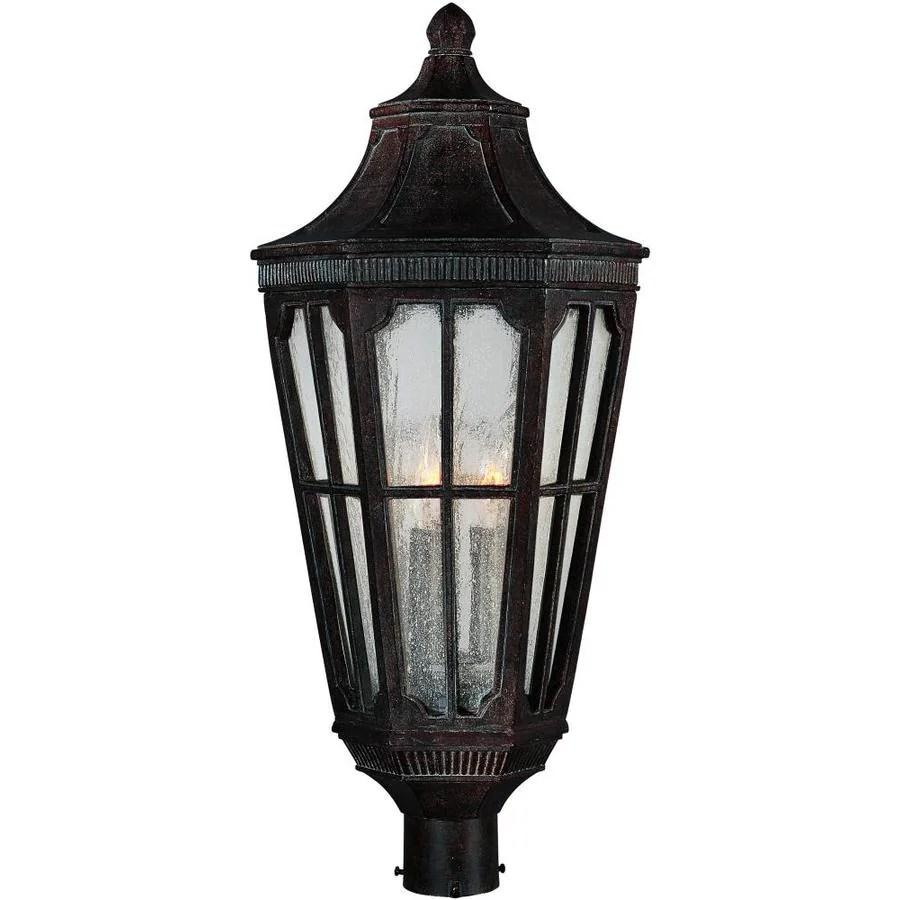 maxim lighting beacon hill 3 light 11 in wide sienna outdoor pole post mount