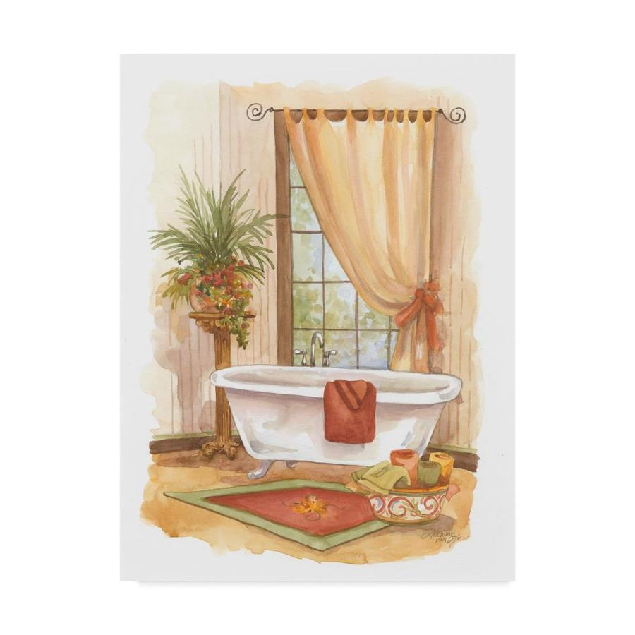 trademark fine art still life framed 32 in h x 24 in w bath print on canvas in the wall art department at lowes com