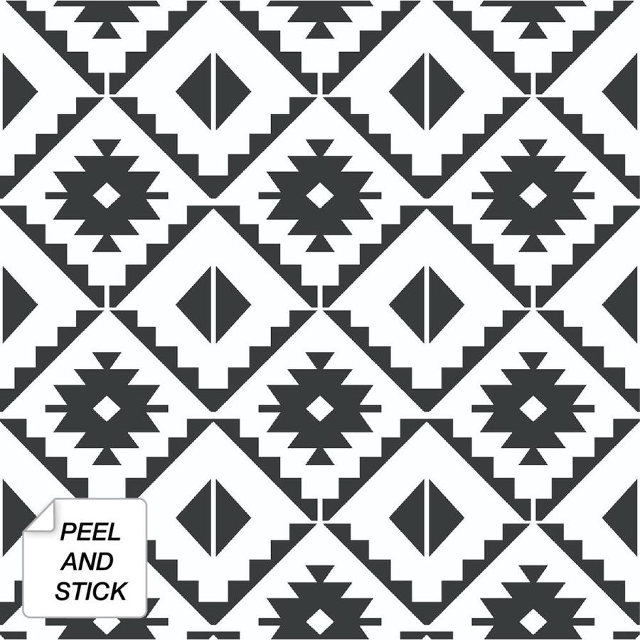 nextwall 30 75 sq ft black and white vinyl tile self adhesive peel and stick wallpaper