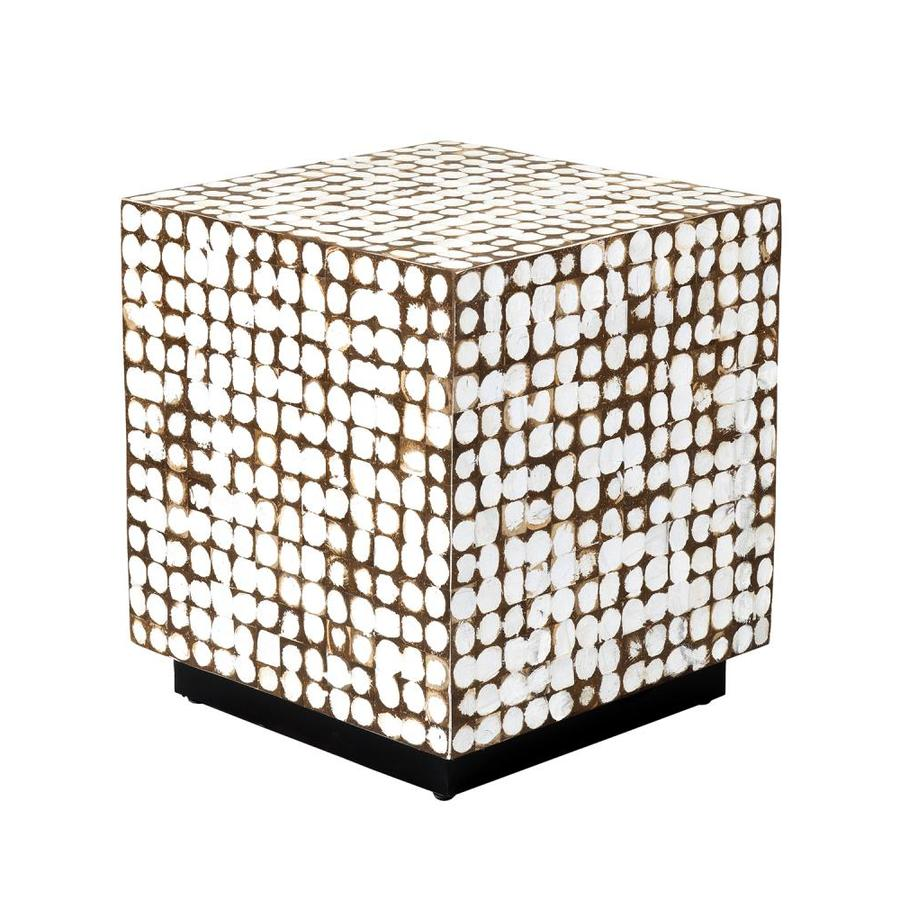 east at main white tile end table in