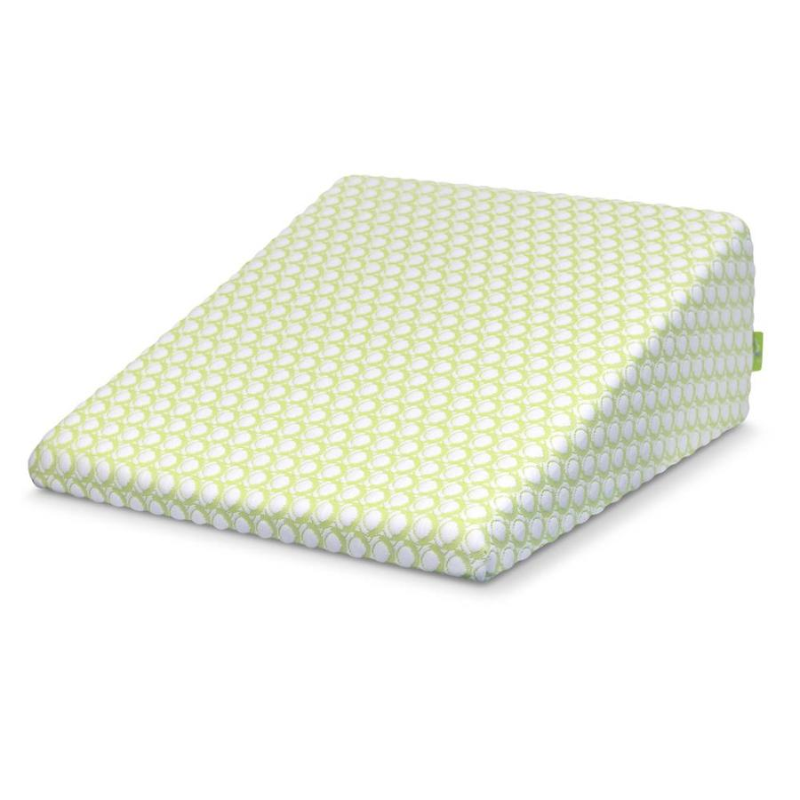 sleep yoga 27 in x 25 in foam square bed wedge pillow