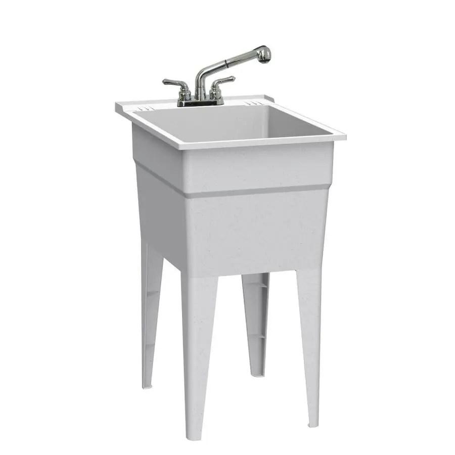 basin white freestanding utility tub