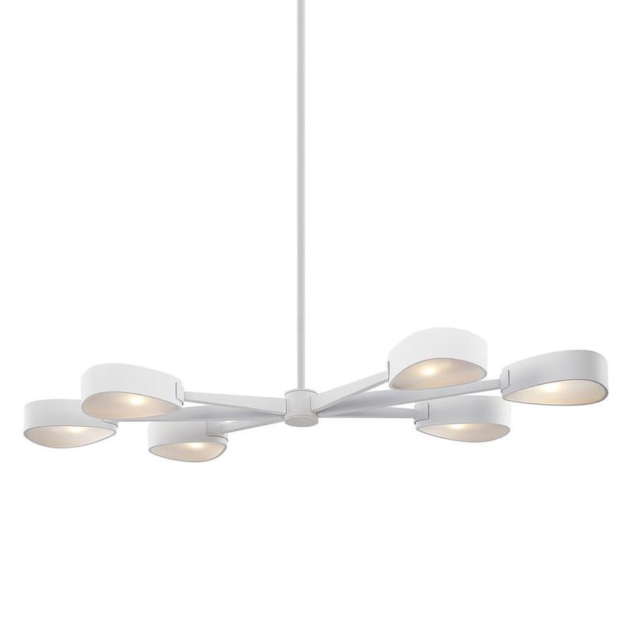 troy lighting allisio textured white modern contemporary linear kitchen island light