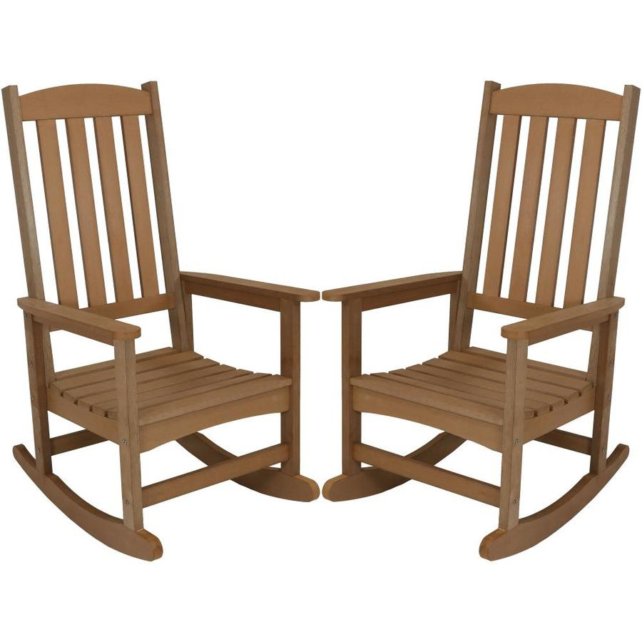 brown plastic frame rocking chair s