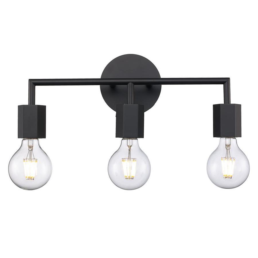 lucid lighting 3 light black industrial
