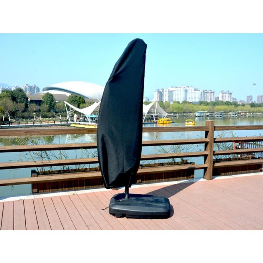 black polyester patio furniture cover