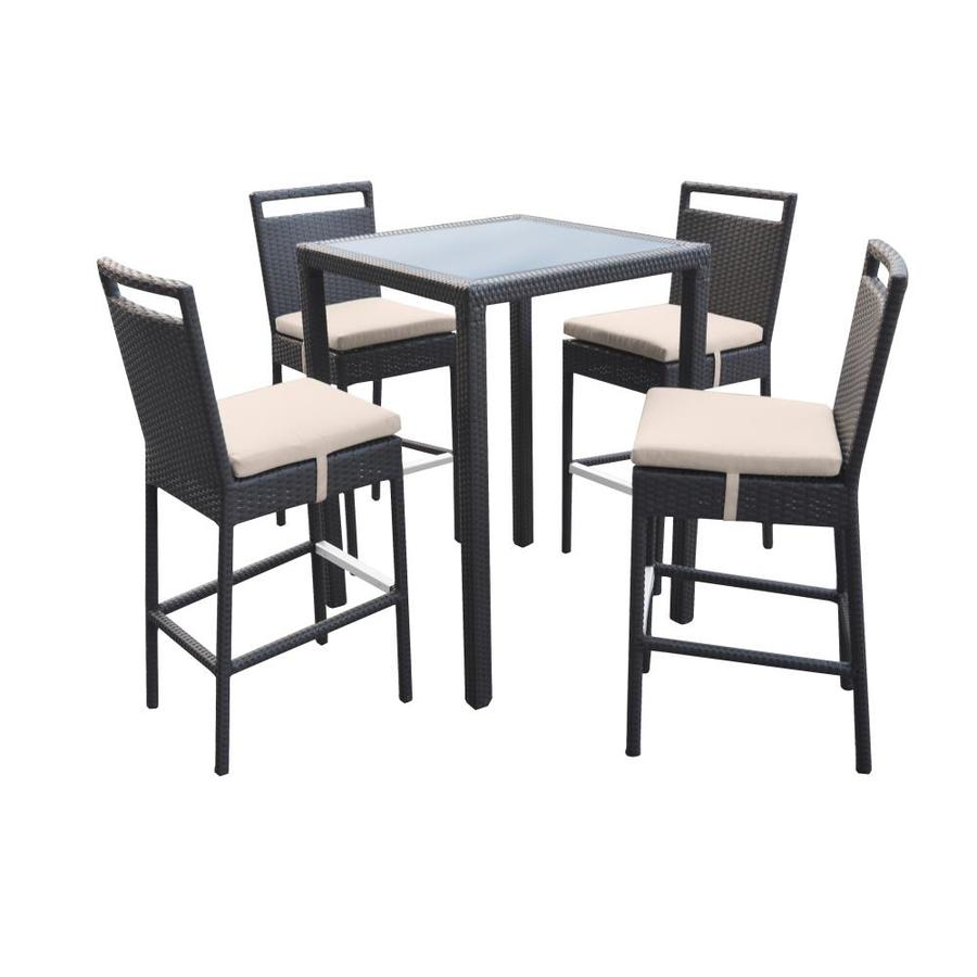 https www lowes com pl bar height wicker patio dining sets patio furniture sets patio furniture outdoors 4294610441 refinement 398460407 4294411472