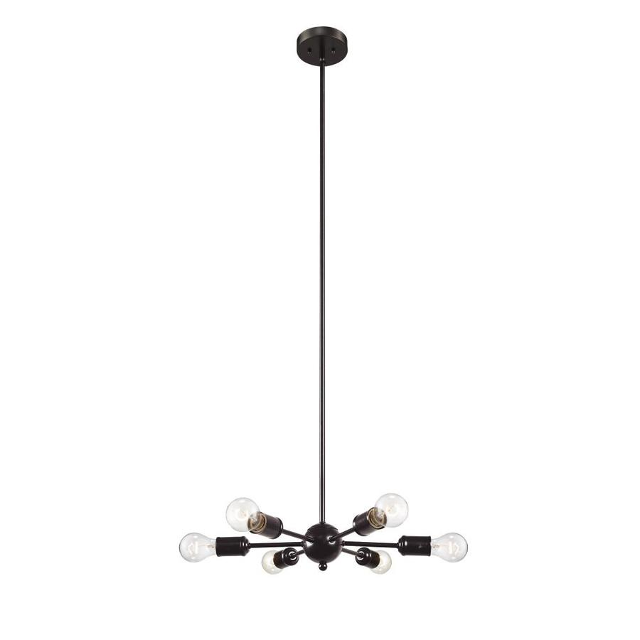 lucid lighting black industrial sputnik