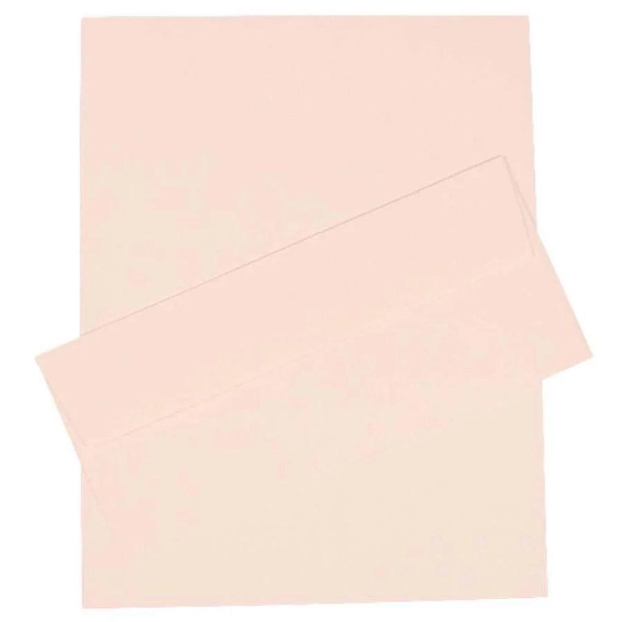 JAM Paper JAM Paper® Business Stationery Set, 100 Sheets of Paper and #10 Envelopes, Strathmore Bright White Pinstripe, 100/set