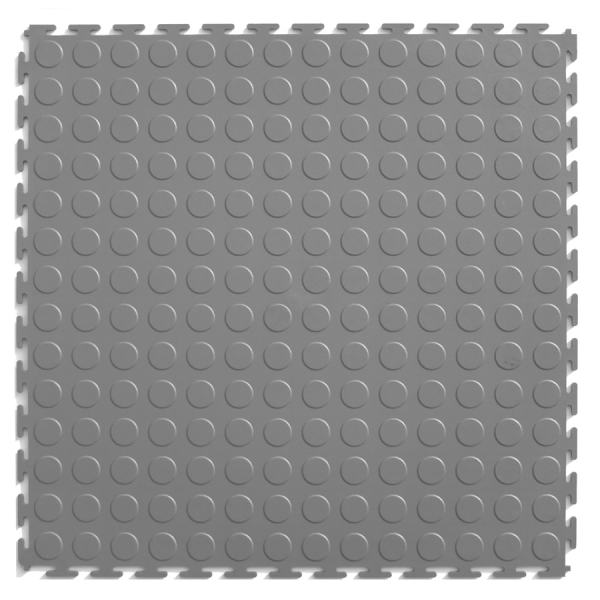 Shop Garage Floor Tile at Lowes com Perfection Floor Tile 8 Piece 20 5 in x 20 5 in Light Gray Raised