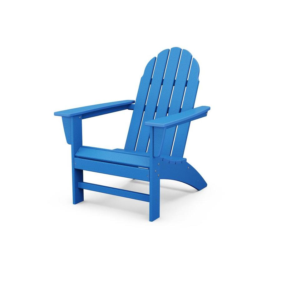 trex outdoor furniture seaport pacific blue plastic frame stationary adirondack chair s with slat seat seat