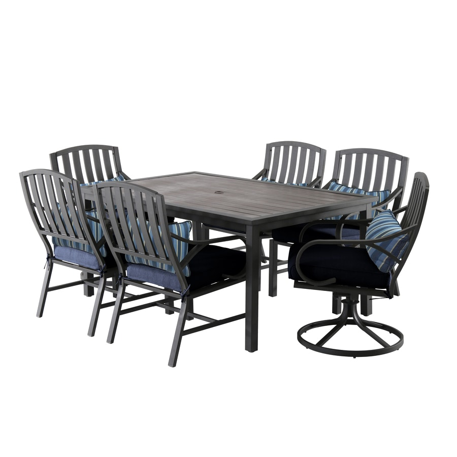 roth wendover 7 piece brown frame patio