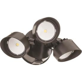 Shop Dusk to Dawn Flood Lights at Lowes com Lithonia Lighting 3 Head Bronze LED Dusk to Dawn Flood Light