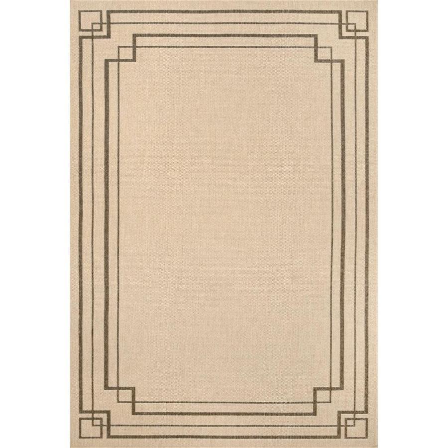 nuloom katalina 5 x 8 beige indoor outdoor border area rug