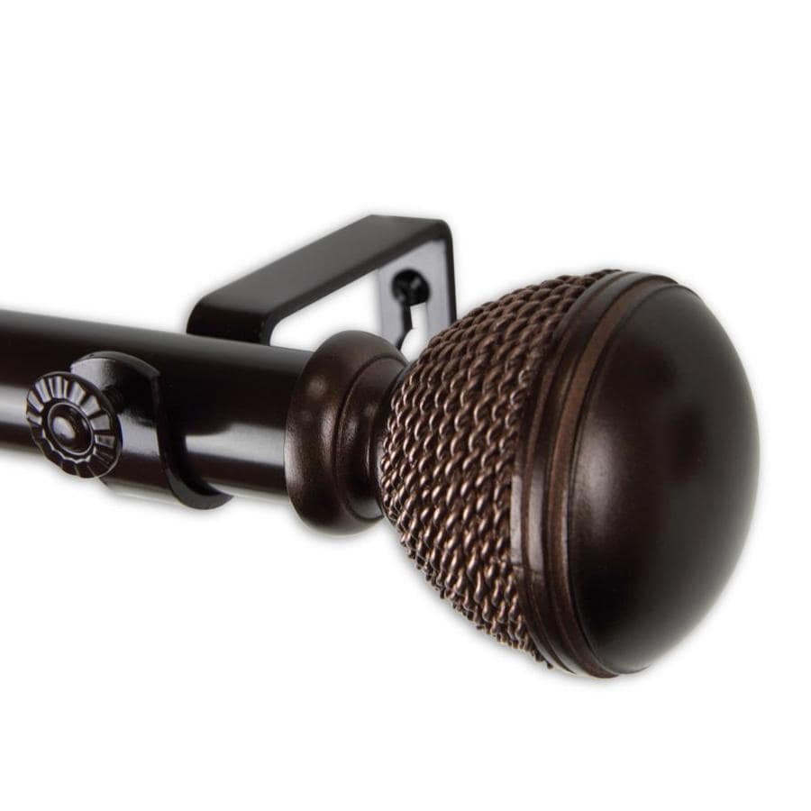 hart harlow rope 1 in 48 in to 84 in bronze steel single curtain rod