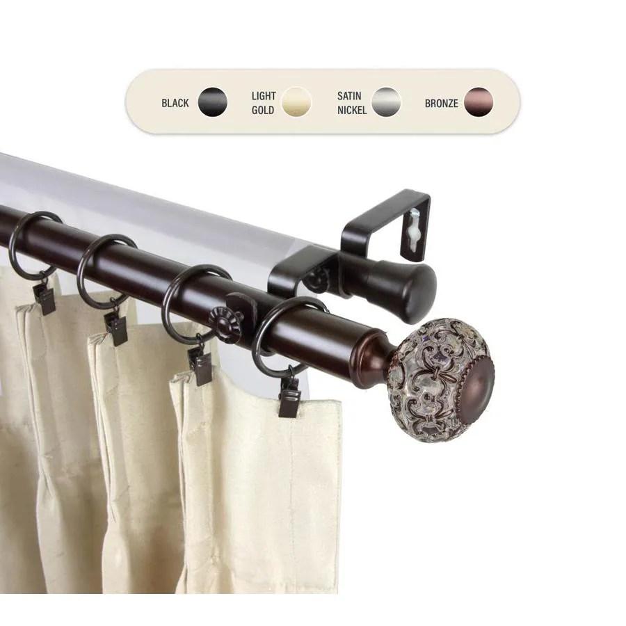 hart harlow 1 in francesca 120 in to 170 in bronze steel double curtain rod