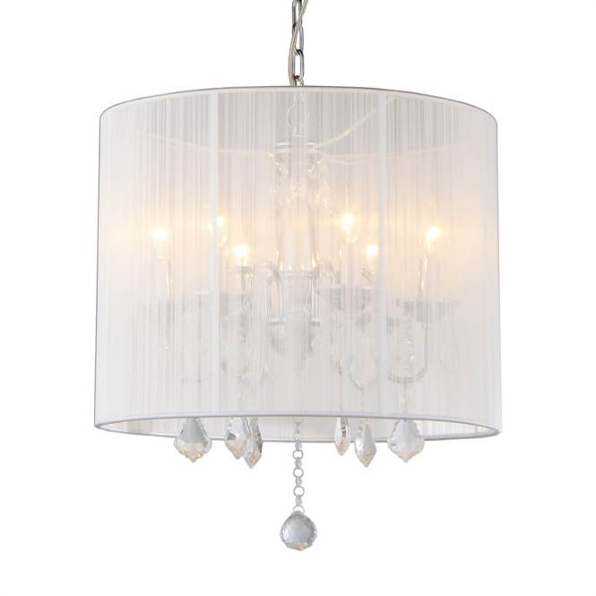 Warehouse Of Tiffany 18 5 In 6 Light Chrome Vintage Drum Chandelier