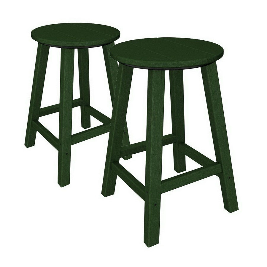 shop polywood set of  contempo patio bar height chairs at lowes com: bar height patio chair